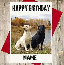 Personalised Labradors Birthday Card - Son Daughter Mum Dad Sister Best Friend