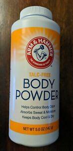 Arm & Hammer Talc-Free Body Powder Odor Control Corn Starch 5 oz SAME-DAY SHIP