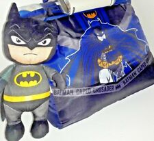 Batman 5-Piece Reversible Comforter and Sheet Set With Character Buddy & Tote