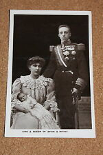 Vintage Postcard: Portait of King and Queen of Spain & Baby, Rotary