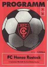 OL 80//81 FC Karl-Marx-Stadt FC Hansa Rostock
