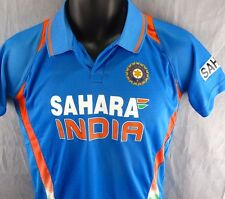 Sahara India Cricket Jersey Youth L 14-16 Large Kids Blue Indian Control Board