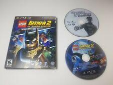 LEGO Batman 2 DC Super Heroes PS3 Video Game w/Green Lantern DVD Tested