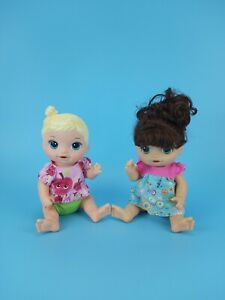 """Hasbro Baby Alive Sweet Spoonfuls Brunette Face Paint Fairy Blonde Doll 13"""" Lot"""