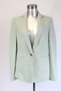 NEW ANN TAYLOR Sage Green KNIT UNSTRUCTURED BLAZER Jacket One-Button Modern XS 2