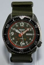 Premium SEIKO 6309-729A Vintage Green Dive Watch Military 24HRS Dial Automatic