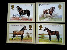 GB 1978  HORSES Issue PHQ CARDS SET No.30  4 values to 13p MNH