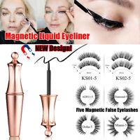 Magnetic False Eyelashes with Magnetic Liquid Eyeliner Easy to Wear Lashes Sets