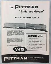 c1950s Manufacturer Brochure Pittman Bride and Groom HO Gauge Model Train Kit