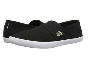 Lacoste Marice BL 2 Men's Croc Logo Casual Slip On Loafer shoes Sneakers Black