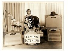 Vintage B&W Promo Photo Flying Dutchman / Cordovox CG 1960's Tube Amps