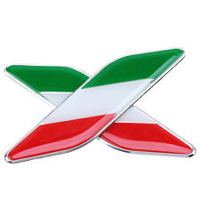 Universal Italy Flag Car Emblem Badge Sticker Decals Decorative Red White Green