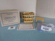 Longaberger 1999 Collector's Club miniature Jw Two Pie Basket Set complete, New