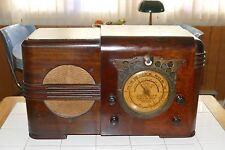 """Super rare, super Deco, restored 1937 Silvertone (Detrola) T3 """"Egyptian"""" radio!"""