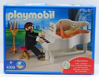 KLAVIER SPIELER FLÜGEL - spielt 2 Melodien  Playmobil 4309 v`07 zu Piano OVP NEU