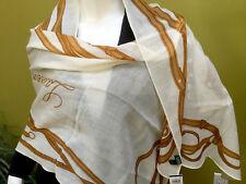 Ralph Lauren womens equestrian cream brown wool rectangle scarf