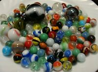 100 Glass Marbles Swirls Boulder Shooters Collect Play Gift Games Toys Free Ship