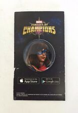 SDCC 2016 EXCLUSIVE MARVEL CONTEST OF CHAMPIONS MS MARVEL PIN BUTTON APP GAME