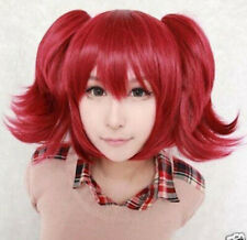 New Red Pigtails Pony Tails School Girl Adult Cosplay Wig AAA+++