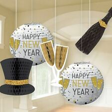 Happy New Years Eve Hanging Wall Ceiling Party Decorations Honeycomb Lantern
