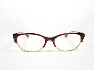 Coach HC5063(Kitty) 5271(Burgundy/Horn Gold) Designer Eyeglass Frames Glasses