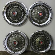 Oem Ford Set Of 4 15 Wire Spoke Hub Caps Wheel Covers D8az1130f 1974 82 W6 Fits Mustang Ii