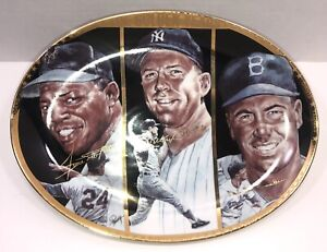 The Golden Years ~Willie Mays/Mickey Mantle/Duke Snider Commemorative Plate.