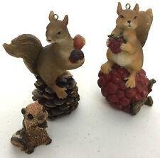 Fall Squirrel Chipmunk Figurine Decorating Lot