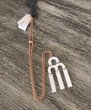 NWT J. Crew Women's Tuning Fork Necklace White J4527 2018 $39.50