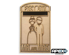 PixieBitz Wedding Party Post Box - Mr and Mrs 2 Photo Frame - Bride and Groom