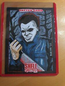 Halloween Michael Myers original art sketch card