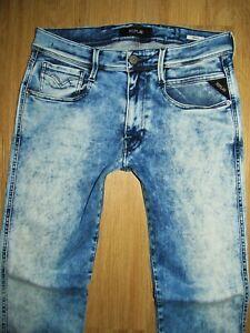 Replay M914 Anbass Jeans-W31/L30-Hyperflex-Stretch Denim blau-Top & super cool