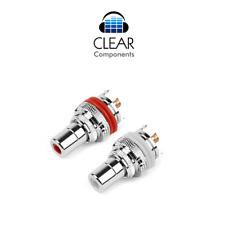 2x conectores Cinch instalación casquillos RCA chasis socket premium rodio copper gama alta