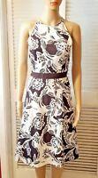 ann taylor  floral dress size 2