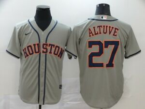 NEW Houston Astros  Series #27 Jose Altuve  Stitched Baseball Authentic Jersey