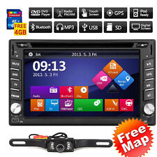 Car DVD Player Radio GPS Navigatioin Headunit Double Din FM/AM SWC BT + Camera