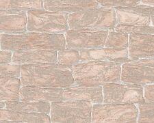 VINYL TEXTURED GLITTER STONE BRICK WALL FEATURE WALLPAPER A.S.CREATION 3438-26