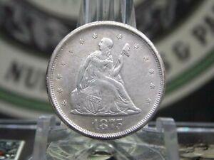 "1875 ""S"" Twenty Cent Piece Silver 20c #8 East Coast Coin & Collectables, Inc."