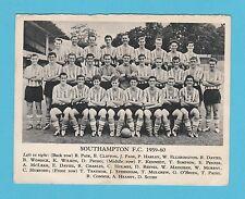 FOOTBALL  -  ANONYMOUS  FOOTBALL  TEAM  CARD  -  SOUTHAMPTON  F.C.  -  1959-60