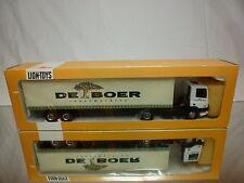 LION TOYS DAF 75 300 ATI TRUCK + TRAILER - DE BOER SUPERMARKT 1:50- GOOD IN BOX