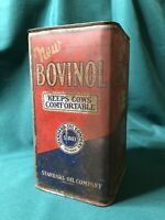 Vintage Antique Standard Oil Company Bovinol Cattle Cow Can Tin farm Indiana 🔥