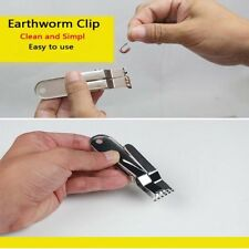 Stainless Steel Fishing Worm Earthworm Clip Fishing Accessories Fishing Tackle