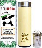 Thermos with Tea Infuser + Strainer 18oz/511ml for Loose Leaf Tea, Coffee