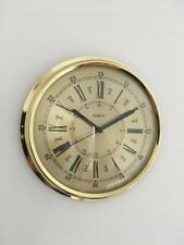 Brass Wall Clock Roman Numerals Clear Reading Dial Quality Quartz Movement