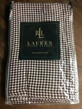 Ralph Lauren Standard Sham Metropolitan Place Houndstooth Brown White 20 x 26