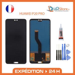 Ecran lcd + vitre tactile Huawei P20 PRO noir + colle + outils