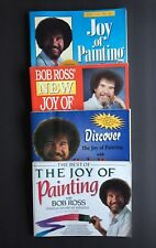 Bob Ross 4, 250+ Pages Ea Book Collection of 60 Detailed Paintings Per Book