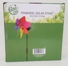"Solar Stake Wind Spinner Windmills Outdoor Pinwheel Garden Ease Yard Outdoor 29"""
