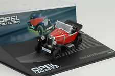 1924 - 1926 OPEL 4/12 PS Raganella ROSSO ROSSO 1:43 IXO ALTAYA COLLECTION