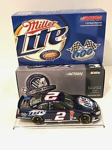 RARE ACR 1/24 RUSTY WALLACE-MILLER LITE #2 600TH CONSECUTIVE START BANK 1 OF 504